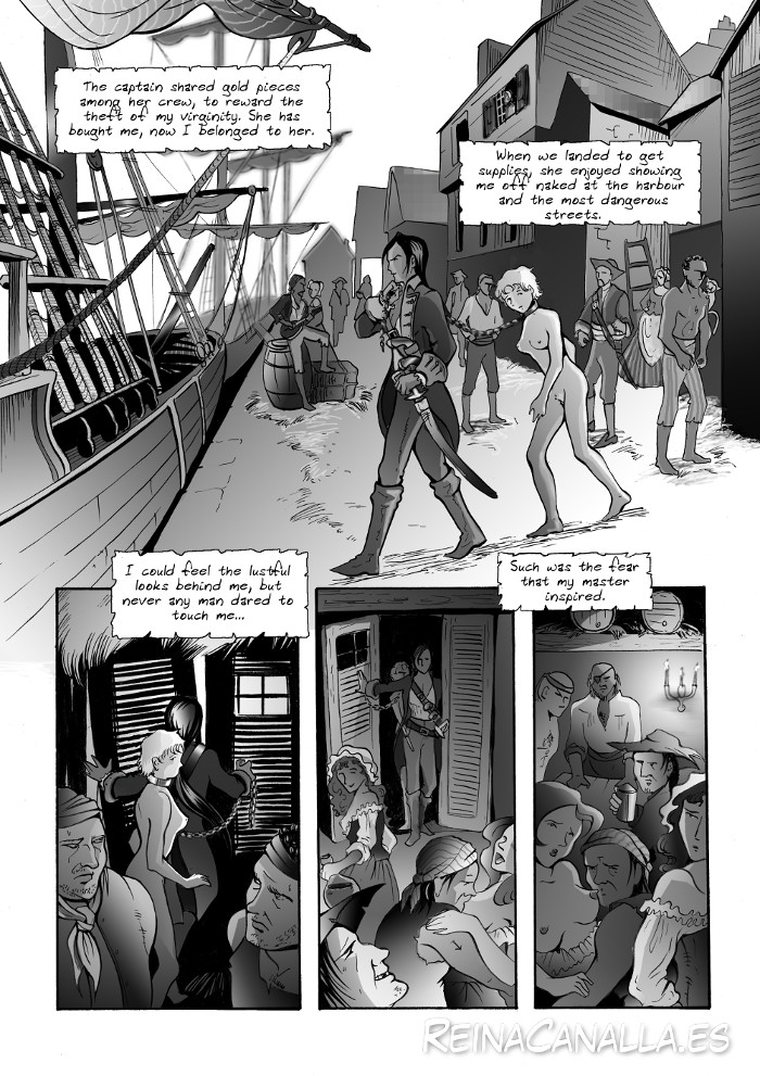 A shameless erotic pirate comic.  ReinaCanalla.